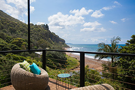 View of the beach from a property with spectacular views